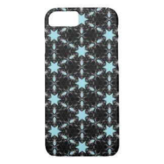 Blue star pattern iPhone case