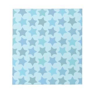 Blue Star Pattern Notepad