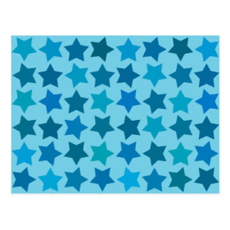 Blue Star Pattern Postcard