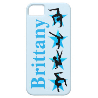 BLUE STAR PERSONALIZED GYMNASTICS IPHONE CASE