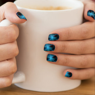 Blue Star shine Minx Nails Minx Nail Art