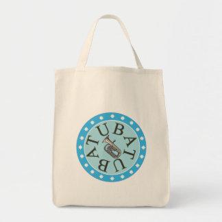 Blue Star Tuba Grocery Tote Bag