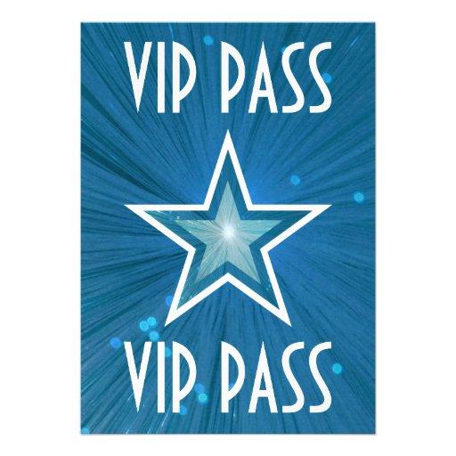 Blue Star 'VIP PASS' invitation white