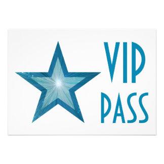 Blue Star 'VIP PASS' invitation white horizontal