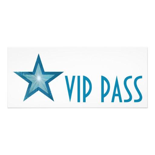 Blue Star 'VIP PASS' invitation white long