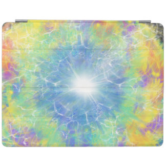 Blue Star Yellow Aqua Abstract Art Design iPad Cover