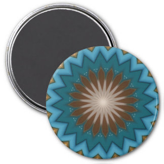Blue Starburst 7.5 Cm Round Magnet