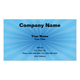 Blue Starburst Business Card Templates