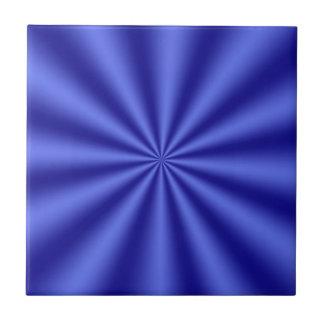 Blue Starburst Ceramic Tile