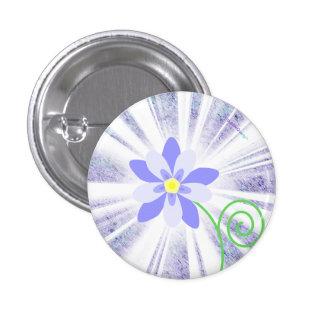 Blue starburst columbine flower button