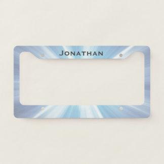 Blue Starburst Design License Plate Frame