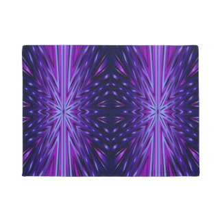 Blue Starburst Doormat