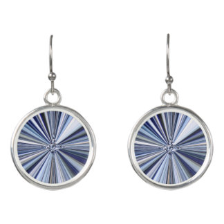 Blue Starburst Drop Earrings