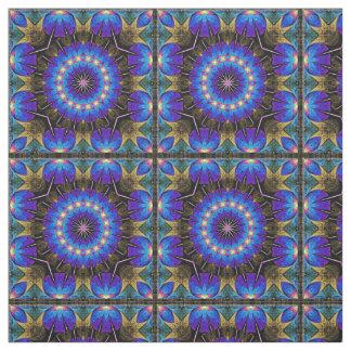Blue Starburst Fabric