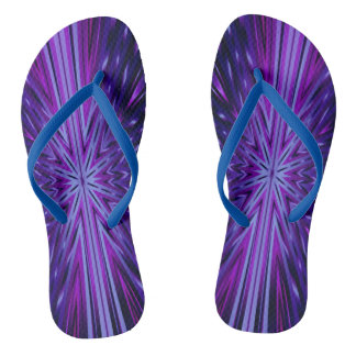 Blue Starburst Flip Flops