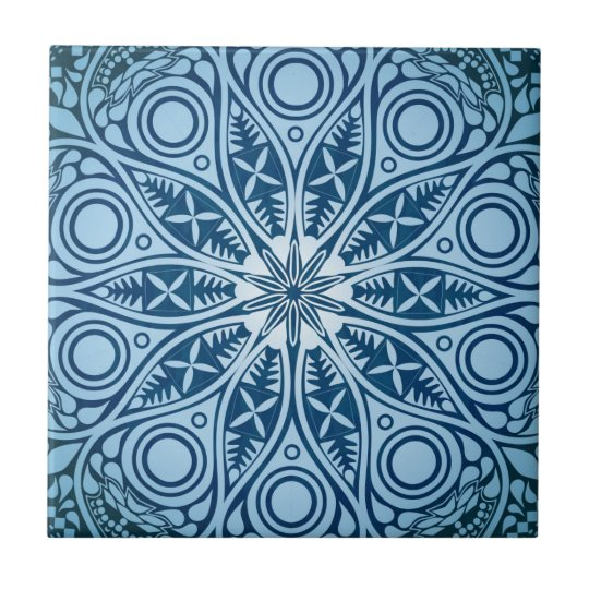 Blue Starburst Graphic Design Tile