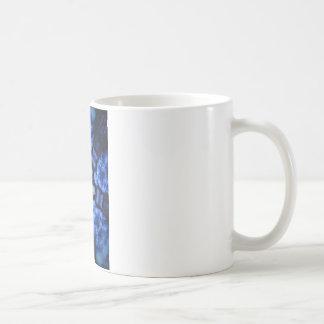 Blue Starburst Hippie Kaliedoscope Design Mug