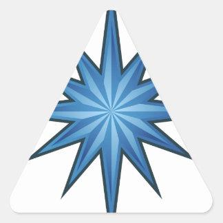 Blue Starburst Icon Triangle Sticker