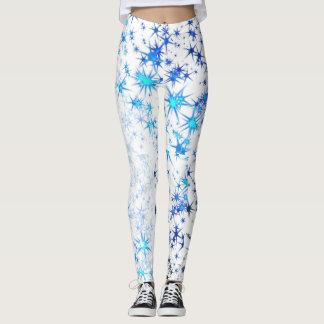 Blue starburst leggings