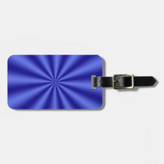 Blue Starburst Luggage Tag