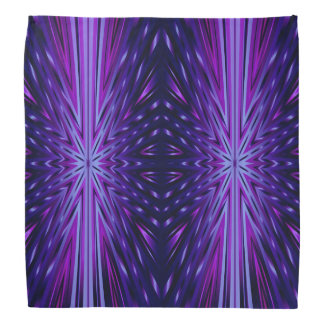 Blue Starburst Pattern Bandana