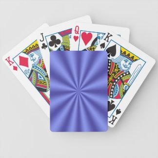 Blue Starburst Playing Cards