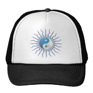 Blue Starburst Yin Yang Mesh Hats