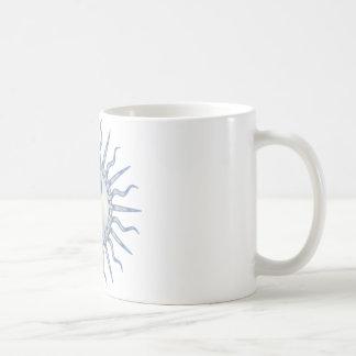 Blue Starburst Yin Yang Coffee Mug