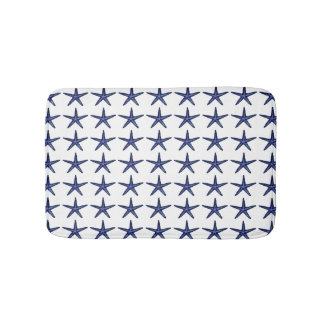 Blue Starfish Bath Mat