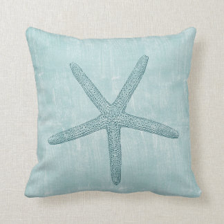 Blue Starfish Cushion