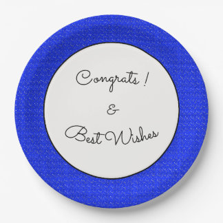 Blue-Starry-Night-Fabric(c)Congrats_Full-TEMPLATE 9 Inch Paper Plate