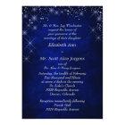 Blue Starry Night Formal Wedding Invitation