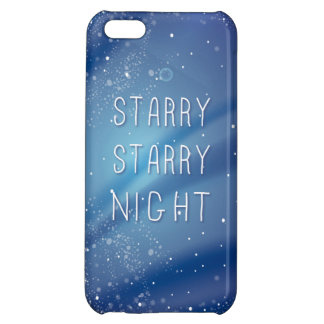 Blue Starry Night Sky Quote iPhone 5C Covers