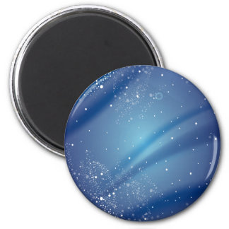 Blue Starry Night Template 6 Cm Round Magnet