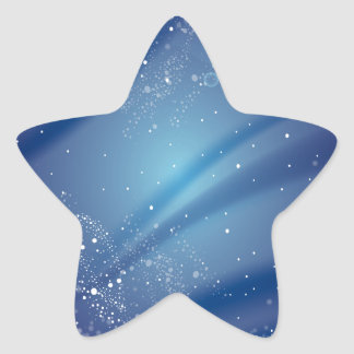 Blue Starry Night Template Star Sticker