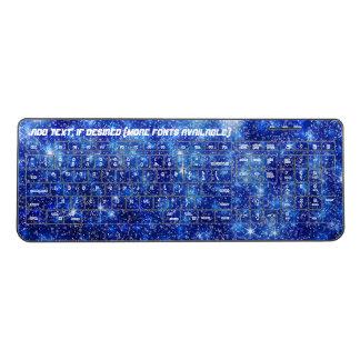 Blue Starry Night Wireless Keyboard