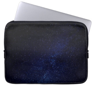 Blue starry sky laptop sleeve