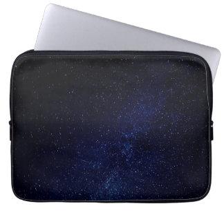 Blue starry sky laptop sleeve
