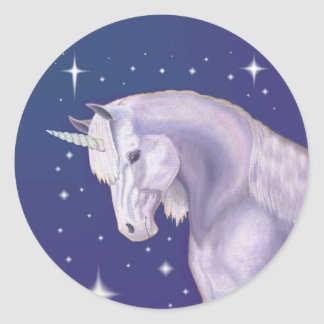 Blue Starry Unicorn sticker