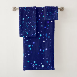 Blue Stars 2 Bath Towel Set