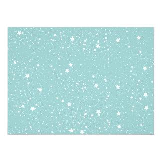 Blue Stars baby shower 14 Cm X 19 Cm Invitation Card