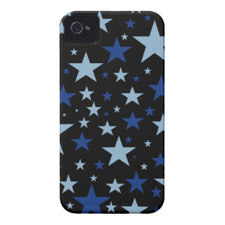 Blue Stars Blackberry Bold case, black background iPhone 4 Covers