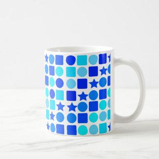 Blue Stars, Circles 'n' Squares on Coffee/Tea Mug