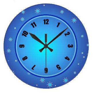 Blue Stars Clock