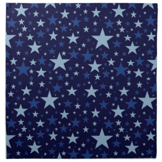 Blue Stars custom cloth napkins