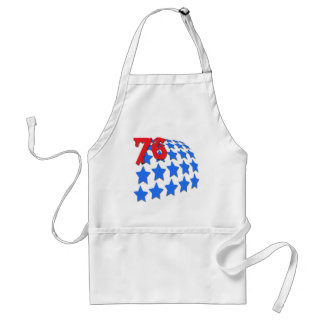 BLUE STARS GRUNGE STYLE NUMBER 76 APRONS