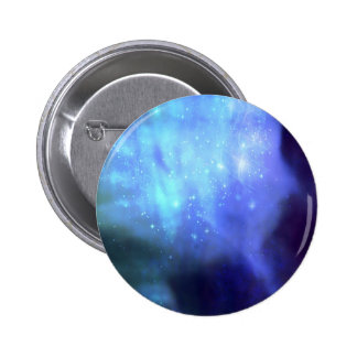 Blue stars in space 6 cm round badge