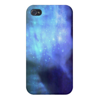Blue stars in space covers for iPhone 4