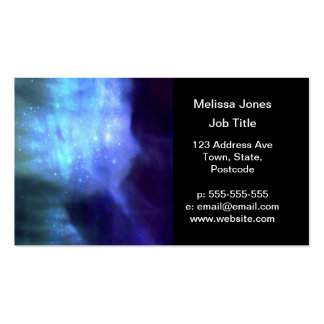 Blue stars in space pack of standard business cards