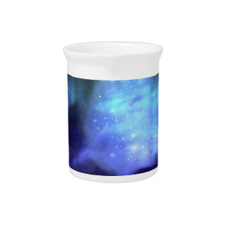 Blue stars in space pitcher